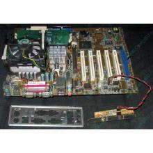 Материнская плата Asus P4PE (FireWire) с процессором Intel Pentium-4 2.4GHz s.478 и памятью 768Mb DDR1 Б/У (Авиамоторная)